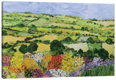 Garden on the Hilltop Canvas Art Print