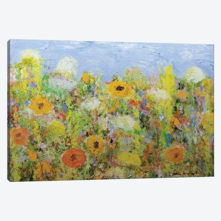 Dandelion Dust Canvas Print #ALF64} by Allan Friedlander Canvas Wall Art
