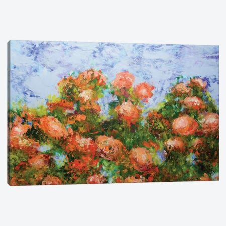 Red Ribbon Roses Canvas Print #ALF74} by Allan Friedlander Canvas Art Print