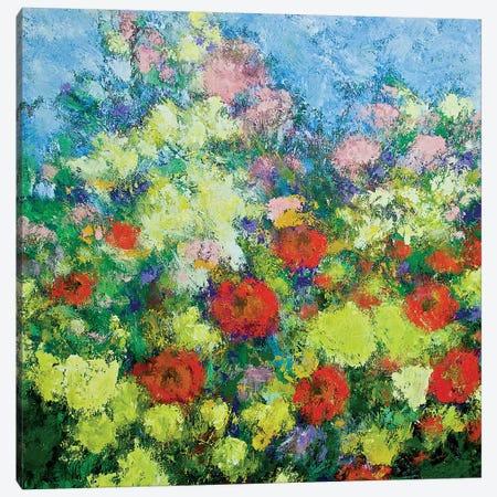 Garden Shower Canvas Print #ALF9} by Allan Friedlander Canvas Wall Art