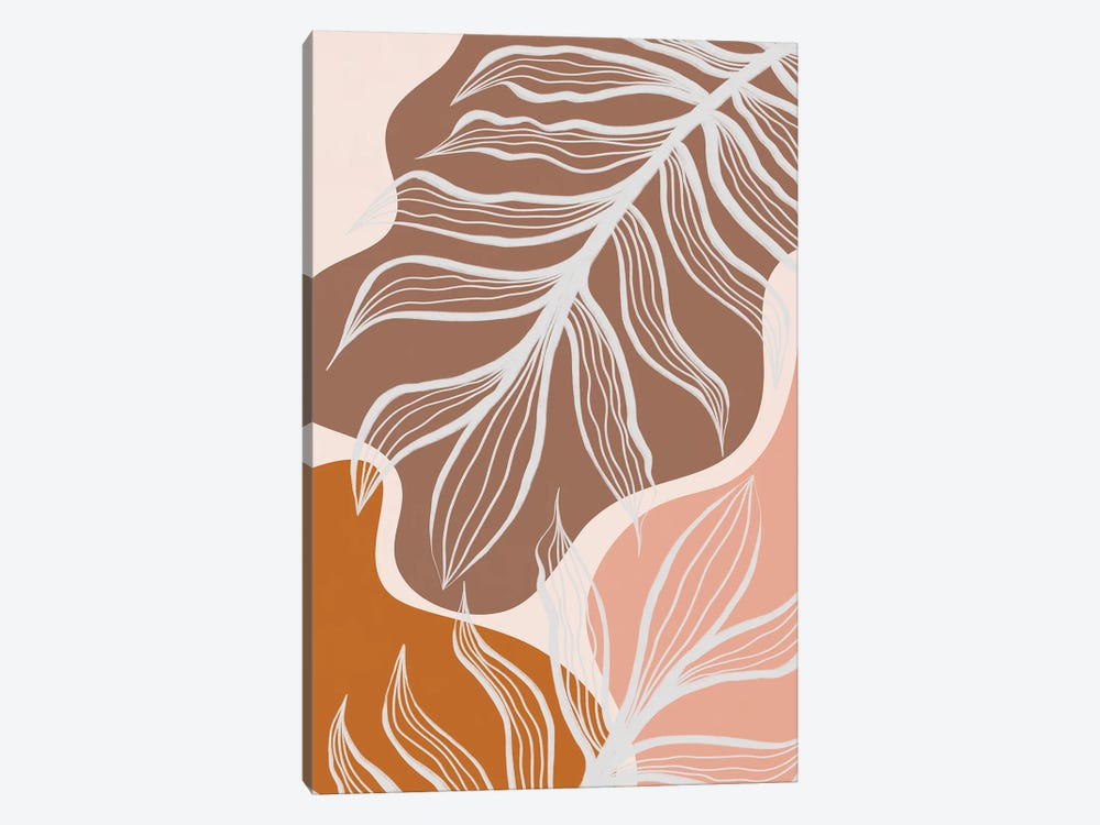 Organic Shapes & Palm Leaves by Alisa Galitsyna 1-piece Canvas Art Print