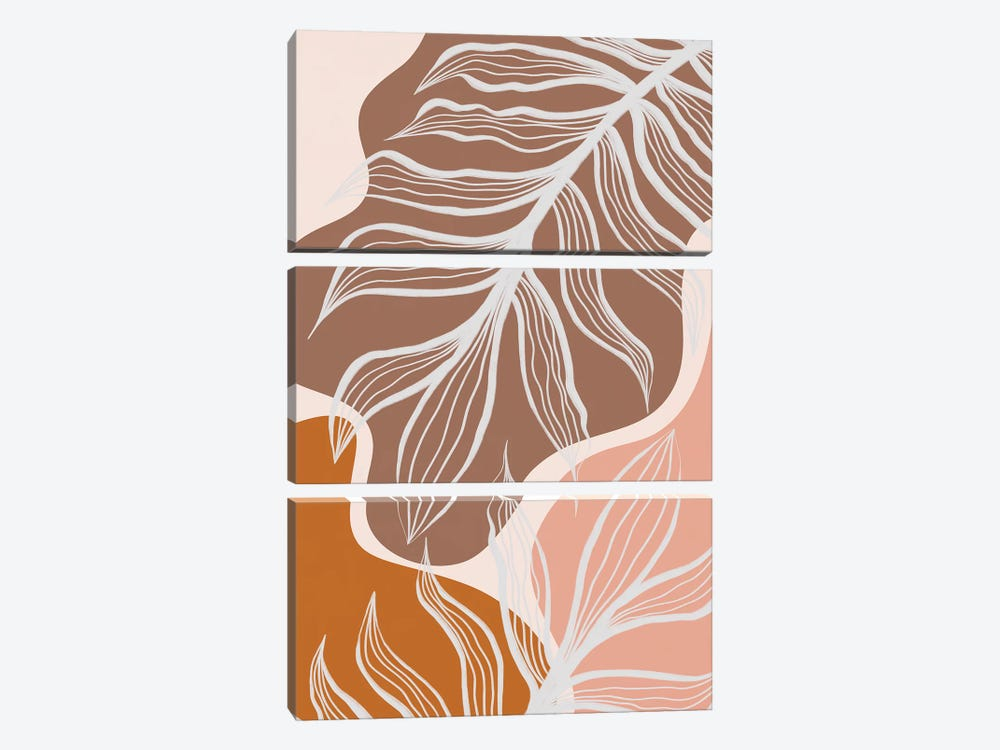 Organic Shapes & Palm Leaves by Alisa Galitsyna 3-piece Art Print