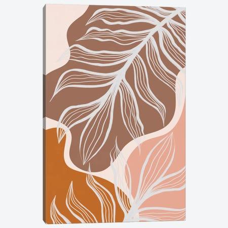 Organic Shapes & Palm Leaves Canvas Print #ALG108} by Alisa Galitsyna Canvas Art Print