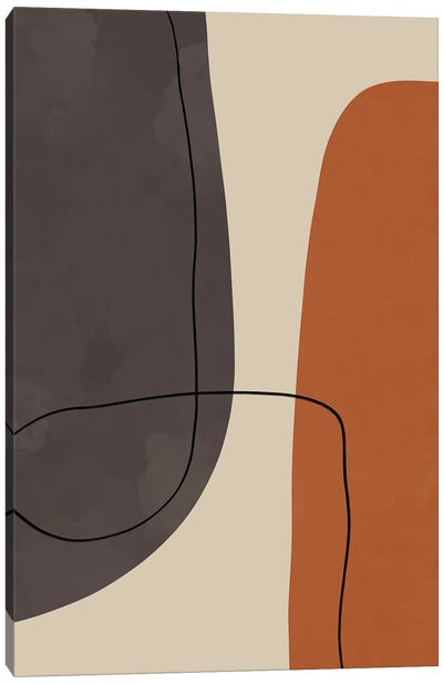 Modern Abstract Shapes #2 Canvas Art Print