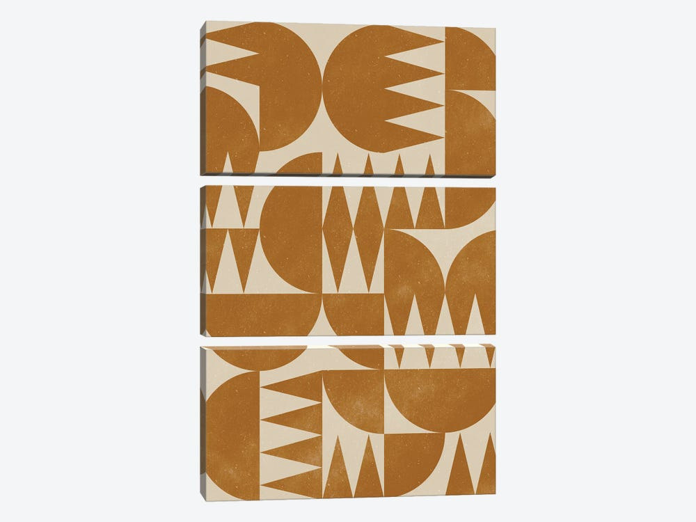 Woodblock Pattern III by Alisa Galitsyna 3-piece Art Print