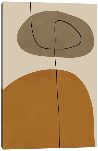 Organic Abstract Shapes II Canvas Art Print