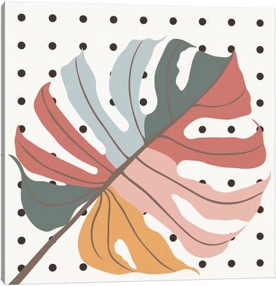 Colorful Monstera Leaf Canvas Art Print