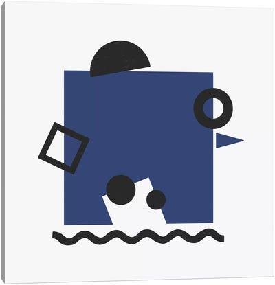 Dark Blue Square Canvas Art Print