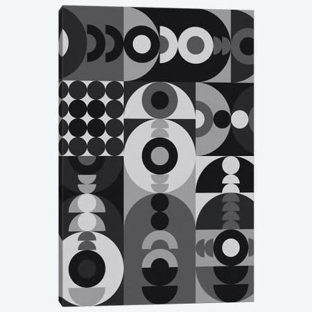 Geometry Games V - Black Palette Canvas Print #ALG30} by Alisa Galitsyna Art Print