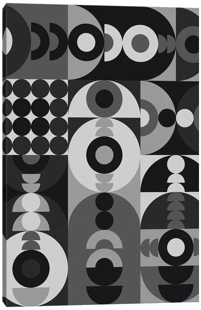 Geometry Games V - Black Palette Canvas Art Print