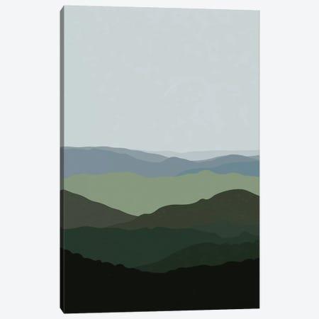 Green Mountainscape Canvas Print #ALG32} by Alisa Galitsyna Art Print