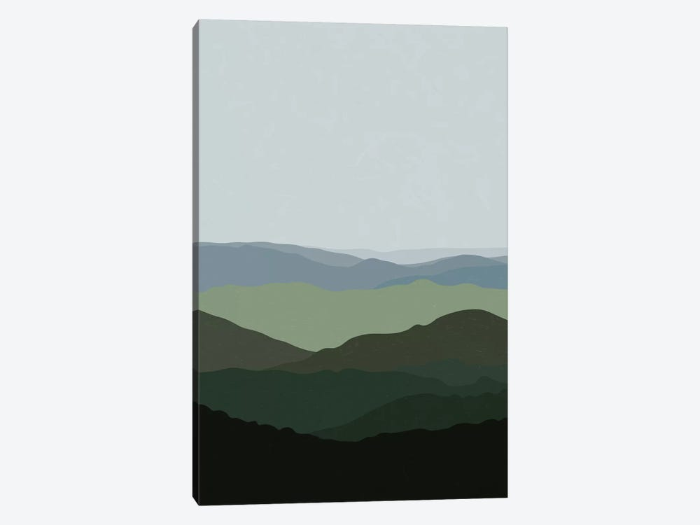 Green Mountainscape by Alisa Galitsyna 1-piece Canvas Print