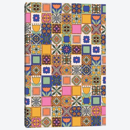 Hand Drawn Floral Patchwork Canvas Print #ALG34} by Alisa Galitsyna Canvas Art