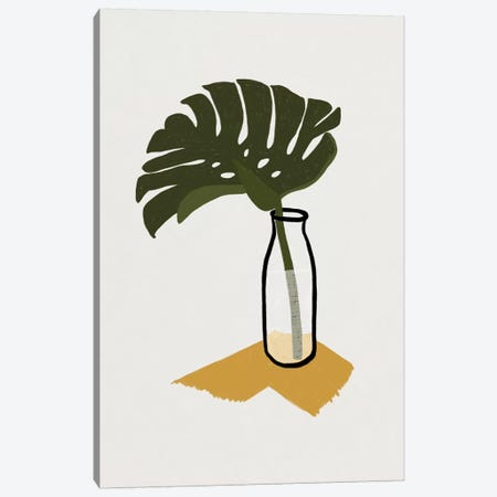 Monstera Deliciosa In A Bottle Canvas Print #ALG46} by Alisa Galitsyna Canvas Print