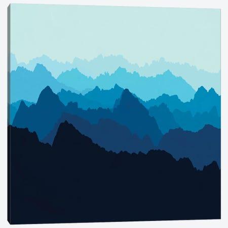 Mountains In Blue Fog Canvas Print #ALG48} by Alisa Galitsyna Canvas Artwork