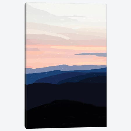 Pastel Sunset Over The Mountains Canvas Print #ALG53} by Alisa Galitsyna Canvas Print