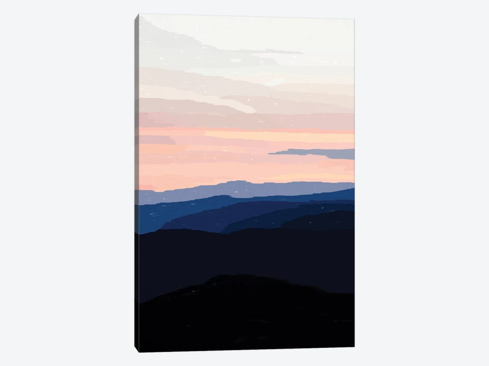 Pastel Sunset Over The Mountains by Alisa Galitsyna 1-piece Canvas Art