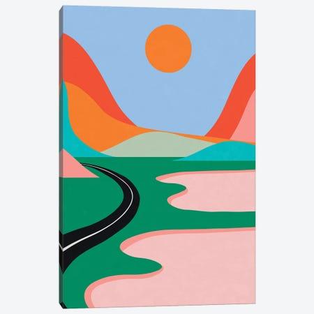 Pink Lakes Canvas Print #ALG56} by Alisa Galitsyna Canvas Art