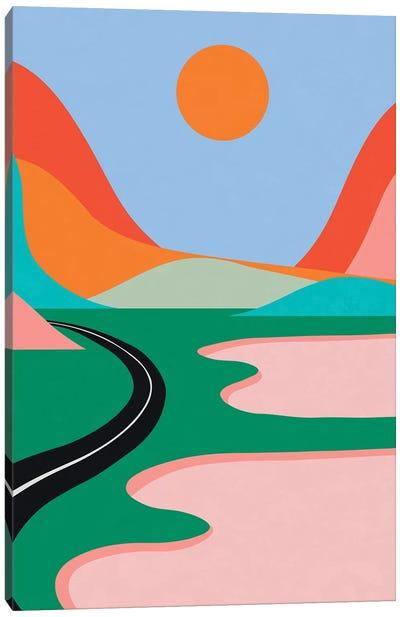Pink Lakes Canvas Art Print