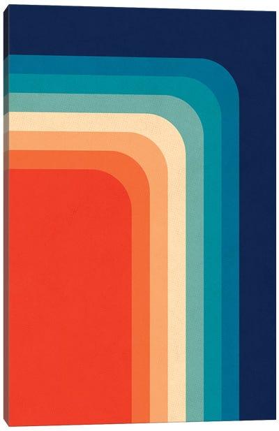 Retro 70s Color Palette III Canvas Art Print