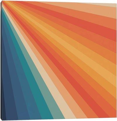 Retro 70s Sunrays Canvas Art Print