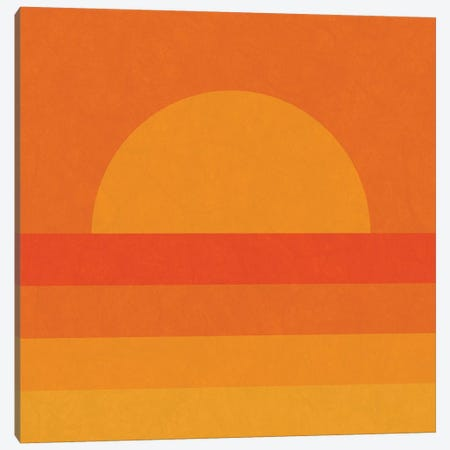 Retro Geometric Sunset Canvas Print #ALG64} by Alisa Galitsyna Canvas Print