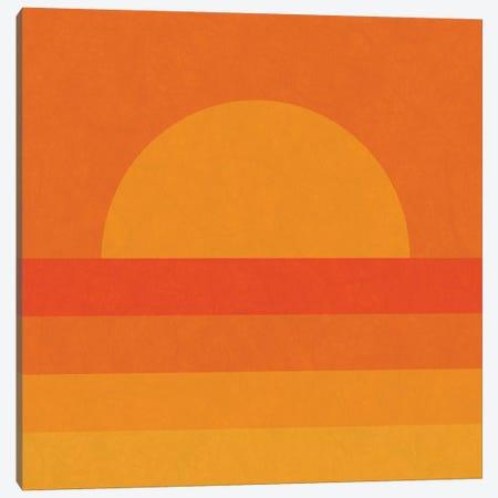 Retro Geometric Sunset Canvas Print #ALG64} by Alisa Galitsyna Canvas Print