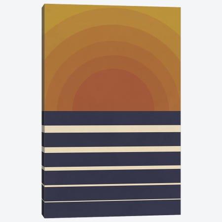 Retro Sunset Canvas Print #ALG65} by Alisa Galitsyna Art Print
