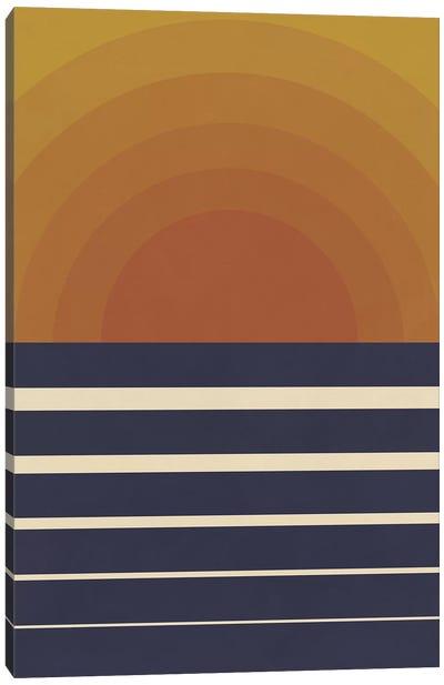 Retro Sunset Canvas Art Print