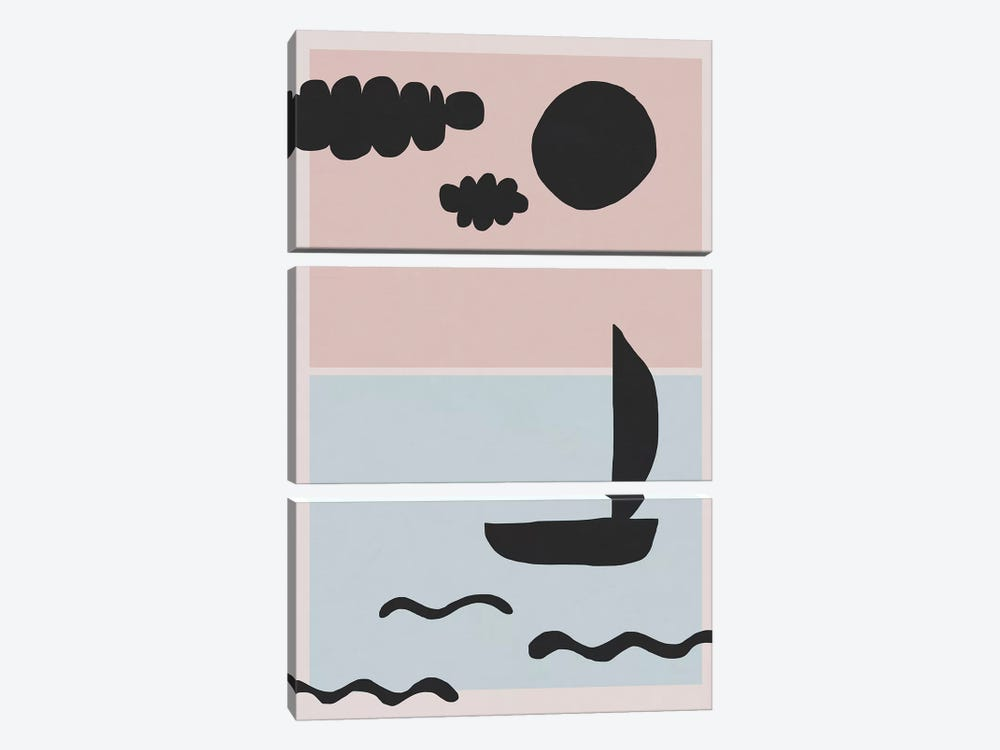 Sea Landscape by Alisa Galitsyna 3-piece Canvas Print