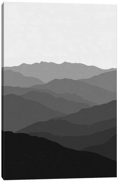 Shades Of Grey Mountains Canvas Art Print
