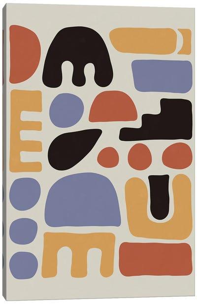 Shapes & Colors Canvas Art Print