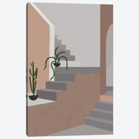 Stairs & Arc 3-Piece Canvas #ALG79} by Alisa Galitsyna Art Print