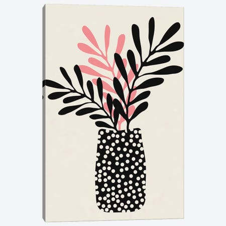 Still Life With Vase And Three Branches Canvas Print #ALG81} by Alisa Galitsyna Canvas Artwork