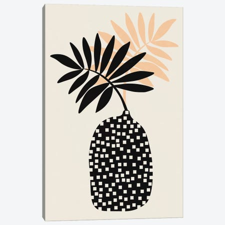 Still Life With Vase And Tropical Leaves Canvas Print #ALG83} by Alisa Galitsyna Canvas Wall Art