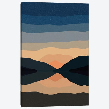 Sunset Mountain Reflection Canvas Print #ALG87} by Alisa Galitsyna Canvas Print