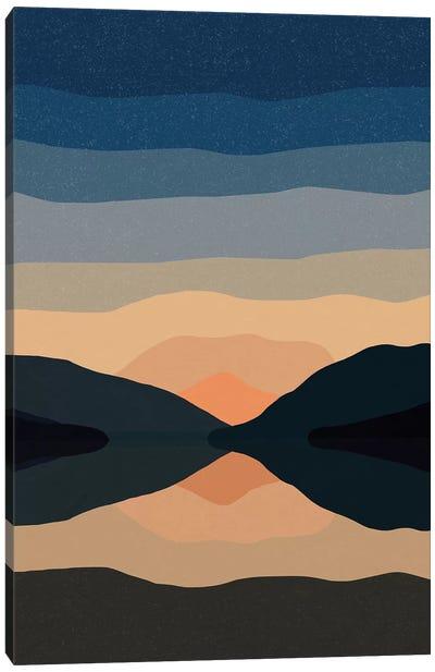 Sunset Mountain Reflection Canvas Art Print