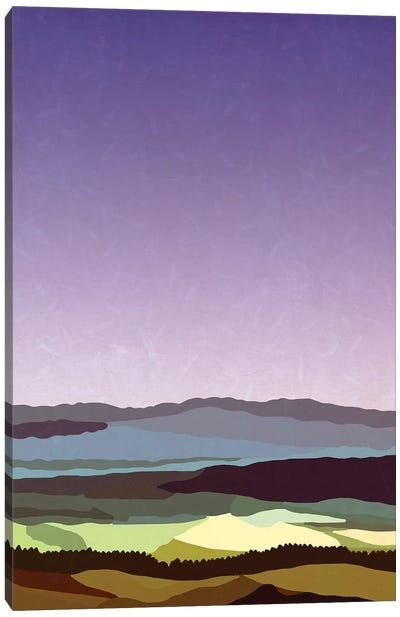 Sunset over the Valley Canvas Art Print