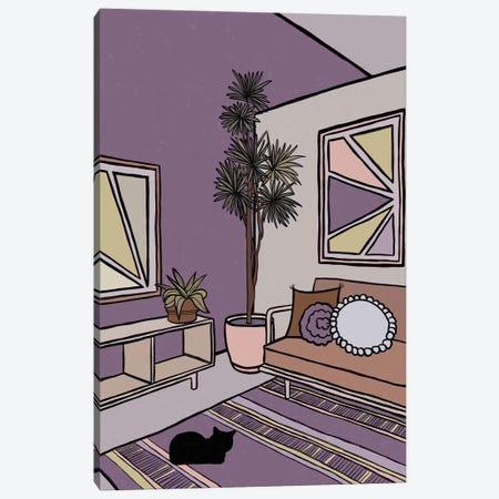 Black Cat Canvas Print #ALG8} by Alisa Galitsyna Canvas Art Print
