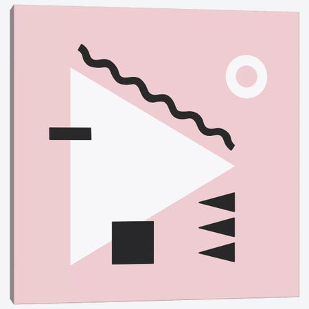 White Triangle & Pink Square Canvas Print #ALG98} by Alisa Galitsyna Canvas Art Print