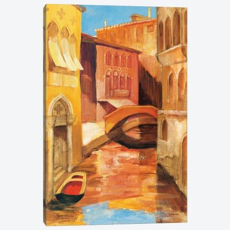 Morning on the Canal I Canvas Print #ALH110} by Albena Hristova Canvas Artwork