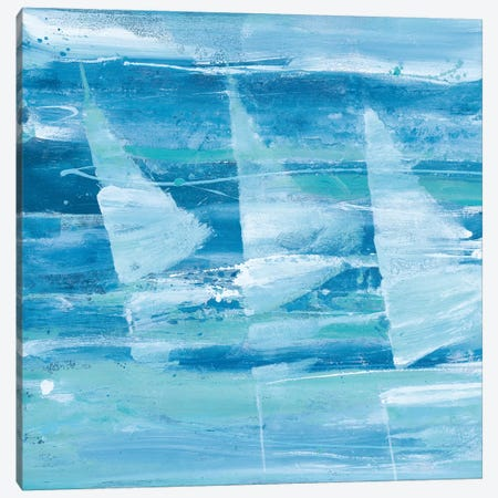 Summer Sail I Blue Canvas Print #ALH19} by Albena Hristova Canvas Art