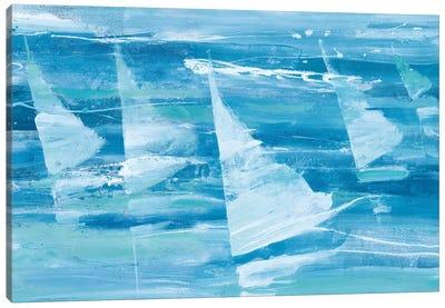 Summer Sail III Blue Canvas Art Print