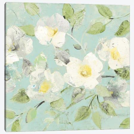 Fading Spring Blue - Bright White Crop Canvas Print #ALH28} by Albena Hristova Art Print