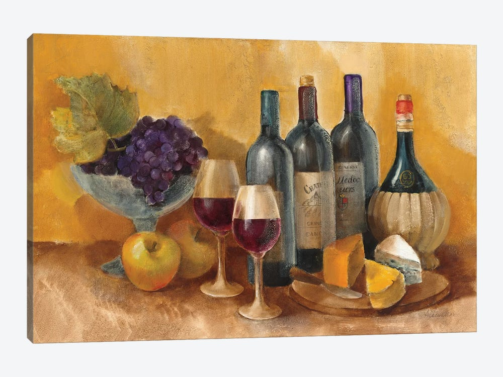 Wine and Fruit I v2 by Albena Hristova 1-piece Canvas Art Print