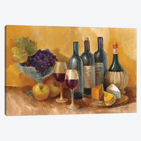 Wine and Fruit I v2 3-Piece Canvas #ALH34} by Albena Hristova Art Print