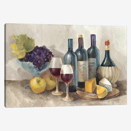 Wine and Fruit I v2 Light Canvas Print #ALH35} by Albena Hristova Canvas Print