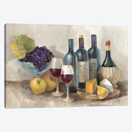 Wine and Fruit I v2 Light 3-Piece Canvas #ALH35} by Albena Hristova Canvas Print