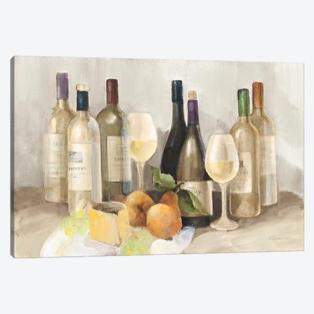 Wine and Fruit II v2 Light 3-Piece Canvas #ALH37} by Albena Hristova Art Print