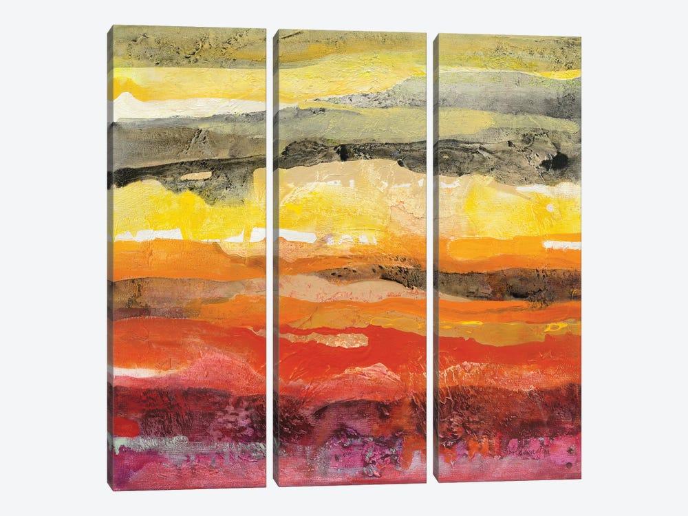 Abstract Layers II by Albena Hristova 3-piece Canvas Print